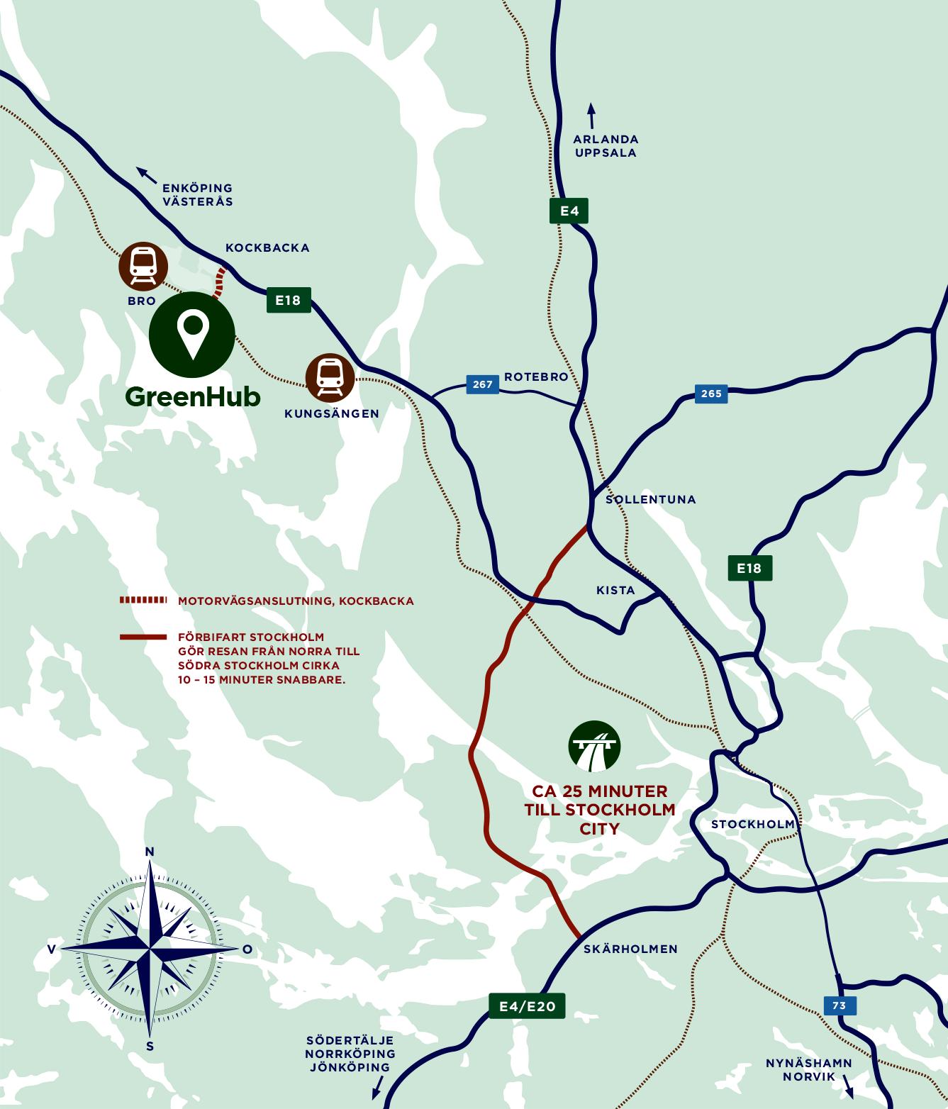 Karta över Greenhub